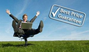 Best Price Guarantee Man with logo ENG1